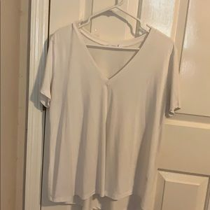 Super Comfy white V neck blouse